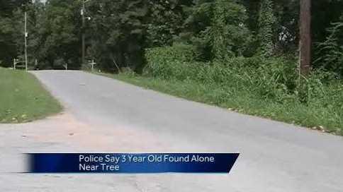 child found alone