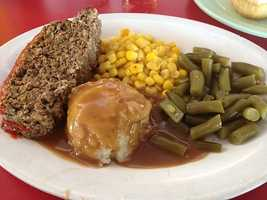 Ed Walker's Meatloaf Blue Plate