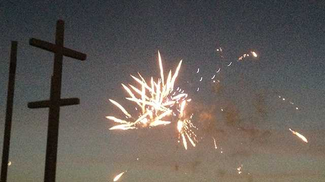 Cross Church puts on fireworks display