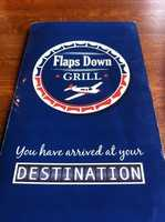 Flaps Down Grill is located in the Springdale Airport open terminal building. Hours of Operation: Monday-Saturday with Lunch from 10:00 am-2:00 pm and Dinner from 4:30 pm-9:00 pm.