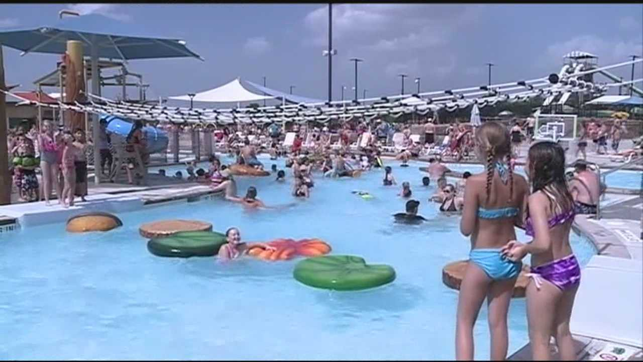 Saturday was the hottest day so far this year for many. Some beat the heat by heading to the swimming pool.