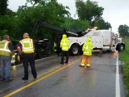 Car accident in Centerton
