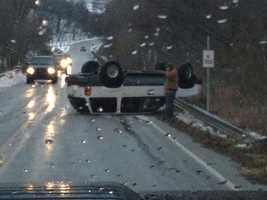 SUV rolls over in Siloam Springs