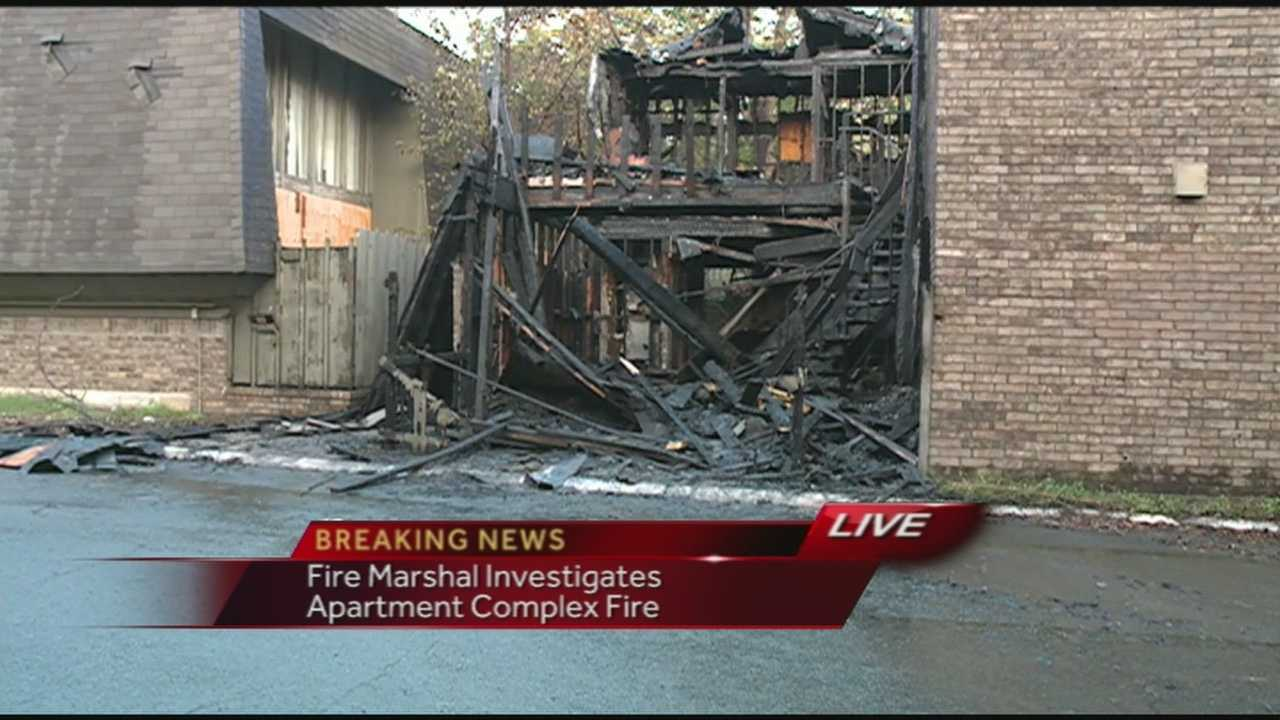 Fire Marshal investigates apartment fire