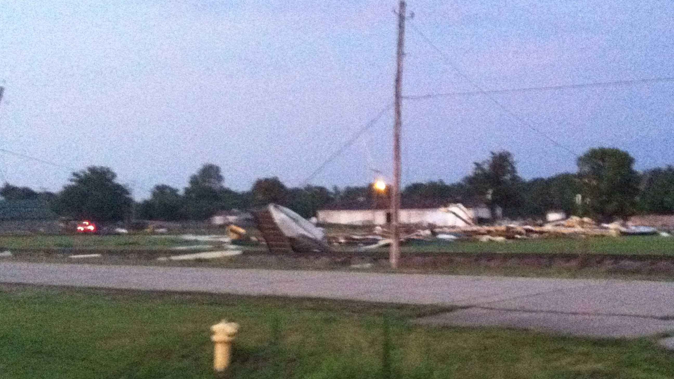 Businesses damaged after storm hits region