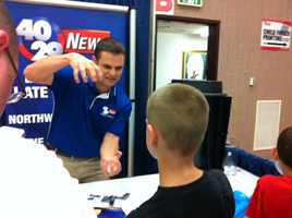 Meteorologist Brad Carl at the Northwest Arkansas Emergency Preparedness Fair