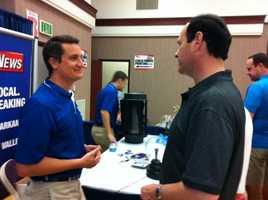 Chief Meteorologist Drew Michaels at the Northwest Arkansas Emergency Preparedness Fair