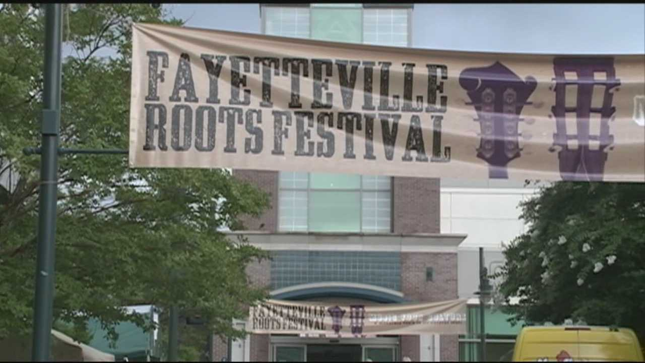 Last day of Fayetteville Roots Festival