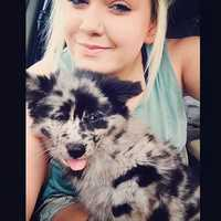This is my daughter tori and her dog Cruz on memorial day.