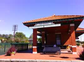 The Excursion Train's intended destination, the Van Buren Depot.