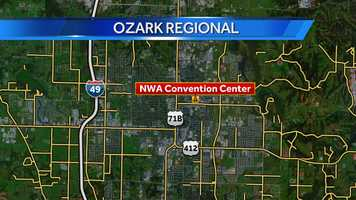 The Ozark Regional Arts & Crafts Festival at the Northwest Arkansas Convention Center in Springdale will be open 9 a.m. to 9 p.m. Fri., Oct. 17 and Sat., Oct. 18.