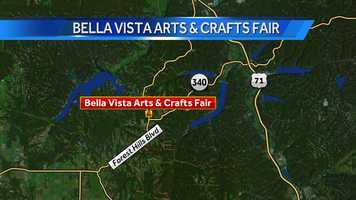 The Bella Vista Arts & Crafts Fair is at 1991 Forest Hills Boulevard.