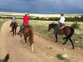 Horseback riding is one of AJ's favorite getaways.