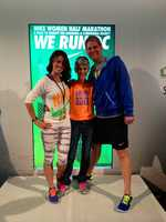 AJ loves running. She runs in half marathons and has done some emceeing for Nike and gotten to interview Joan Benoit Samuelson, an Olympic marathon gold medalist.