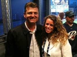 AJ got her start in television sports broadcasting interning for Dick Enberg at the San Diego Padres. She also got to work alongside her childhood role model Trevor Hoffman.