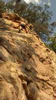 I LOVE climbing. This picture was taken near Jamestown, Arkansas.