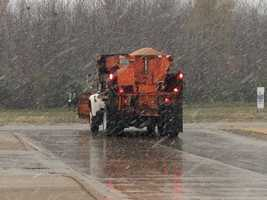 Road crews are out on the streets now.