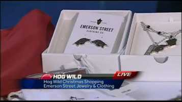 Emerson Street – new line of ladies Razorback jewelry, also have several clothing options – www.emersonstreetclothing.com