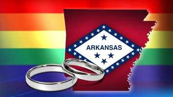 Nov. 25, 2014: A federal judge struck down Arkansas' amendment that banned same-sex marriage, but put her ruling on hold until the state can appeal.