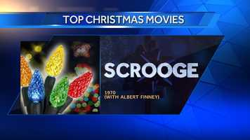 "#50 (tie) Scrooge (with Albert Finney) (1970) - #11 Forbes' ""Top Ten Best Christmas Movies"""