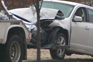 Two-car accident on Wagon Wheel Road in Springdale on the way to Highway 71-B Monday morning.