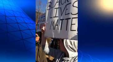 2) RAW VIDEO: Protest in FayettevilleIn November, a group called 'Fayetteville for Ferguson' held a protest against the grand jury's decision not to charge officer Darren Wilson in the death of Michael Brown.
