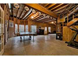 There is 2,266 square feet of unfinished basement space.