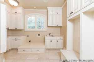 A spacious utilities room.
