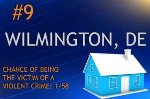 Violent crimes in Wilmington, DEPopulation 71,525MURDER    RAPE    ROBBERY    ASSAULTREPORT TOTAL1928483693RATE PER 1,0000.270.396.759.69