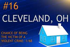 Violent crimes in Cleveland, OHPopulation 390,113MURDER    RAPE    ROBBERY    ASSAULTREPORT TOTAL554173,4911,789RATE PER 1,0000.141.078.954.59