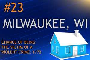 Violent crimes in Milwaukee, WIPopulation 599,164MURDER    RAPE    ROBBERY    ASSAULTREPORT TOTAL1044033,2914,413RATE PER 1,0000.170.675.497.37