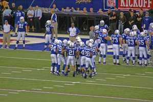 Being a Hoosier, Chris's favorite football team in the Colts!