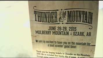 Thunder on the Mountain country music festival that was scheduled to be held in Ozark in June was canceled. Ticket holders are still waiting on their refunds from Pipeline Productions.