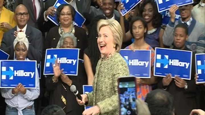 hillary clinton in pine bluff