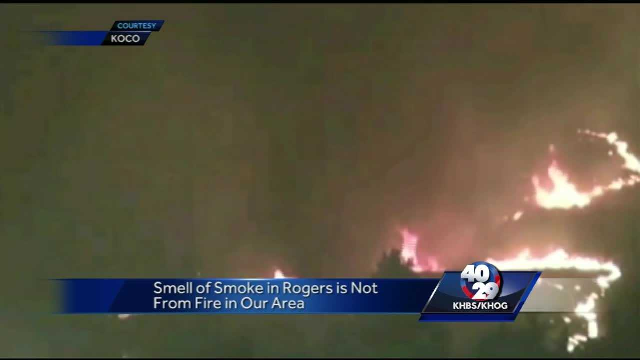 Smoke smell likely coming from wildfires in Okla.