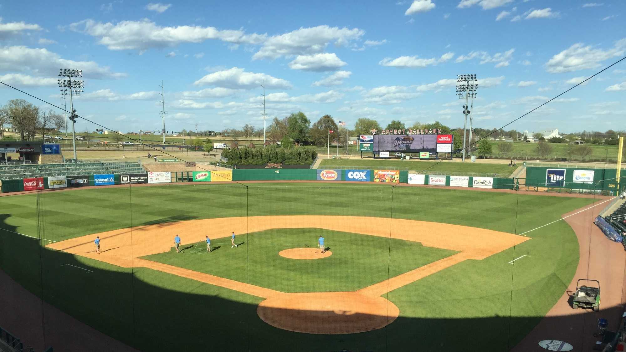 Arvest Ballpark introduces new scoreboard in center field