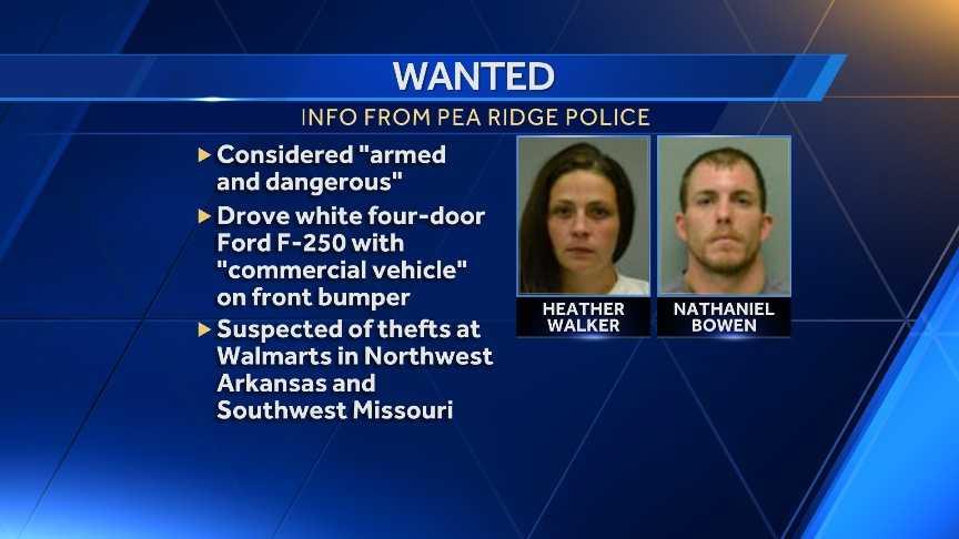 pea ridge police waring