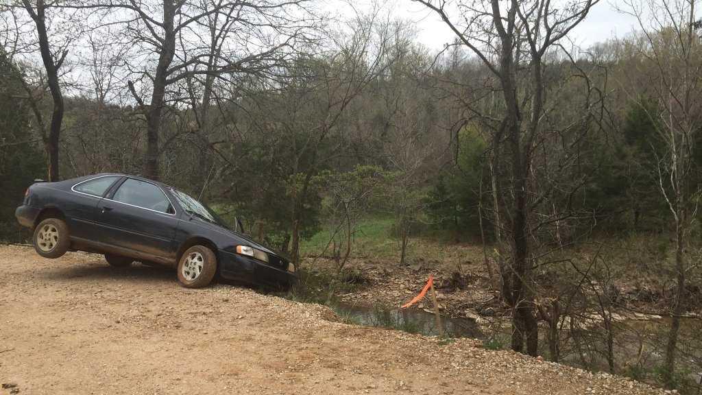 car that fell