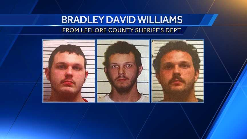 The sheriff's department released 3 photos of Bradley David Williams showing 3 different facial hairstyles he has worn in the past.