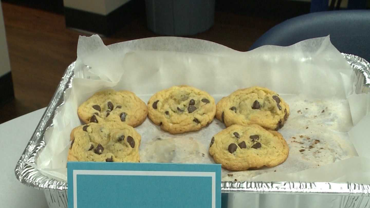 A Springdale woman baked four dozen cookies for police officers