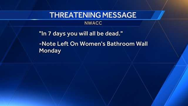 NWACC boosts security after threatening note found