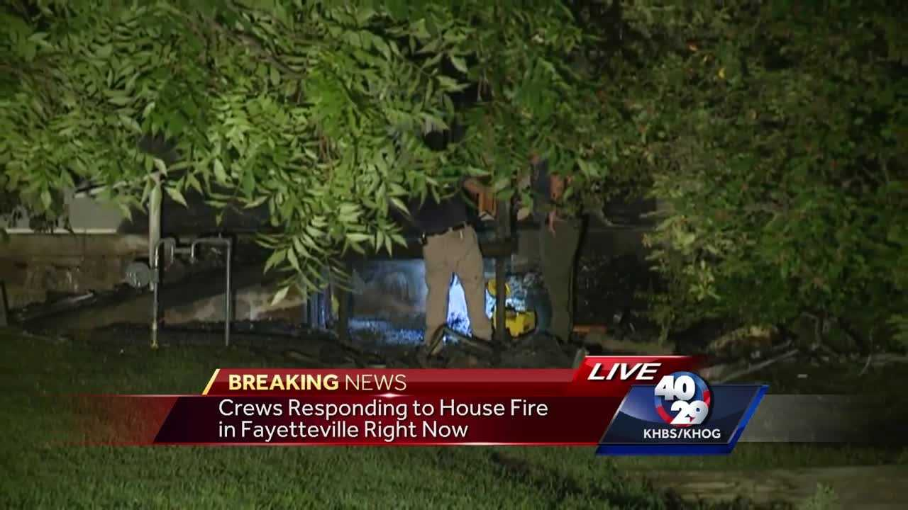 Home catches fire overnight in Fayetteville