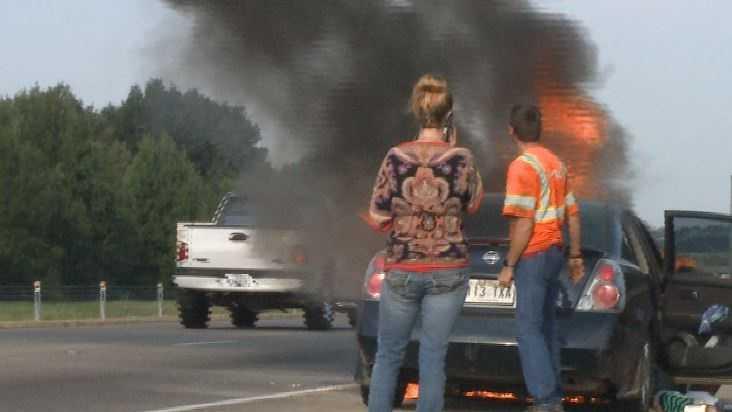 i-40 car fire