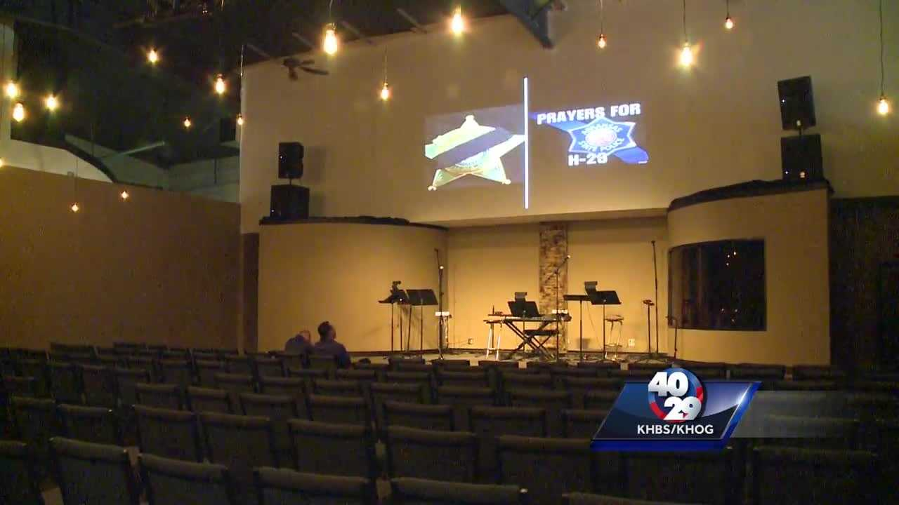 Church opens doors for prayers for law enforcement