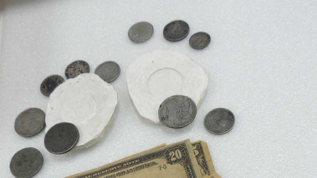 counterfeit money and coin molds