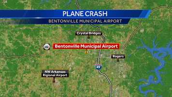 The Bentonville Municipal Airport is northeast of the larger Northwest Arkansas Regional Airport (XNA).