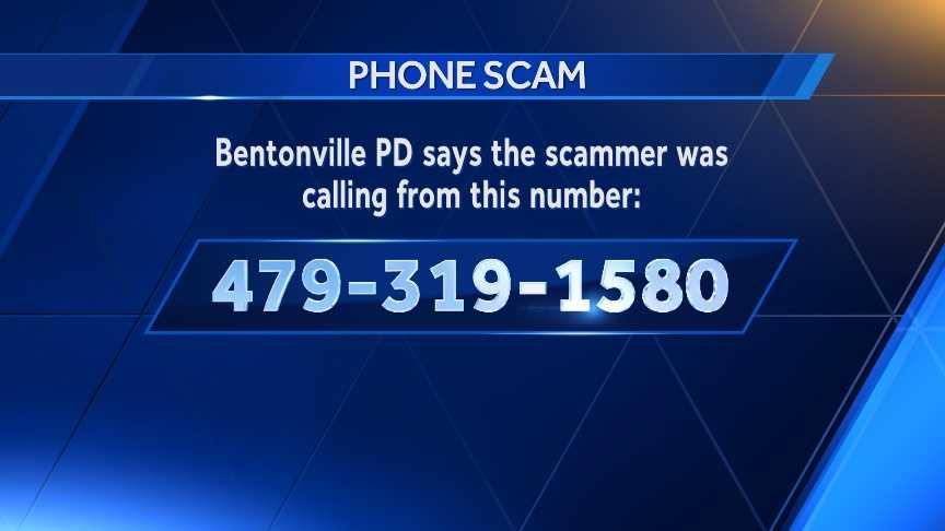 Bentonville phone scam number