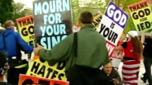 Supreme Court Debates Funeral Protests, Westboro Church, Topeka - 25307131