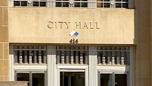 City Hall, kansas city, sign on building - 19091311
