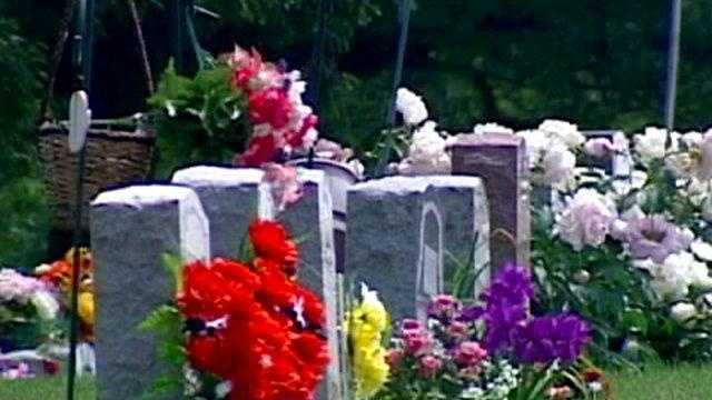 cemetery, grave, flowers, headstone, funeral generic - 16434974